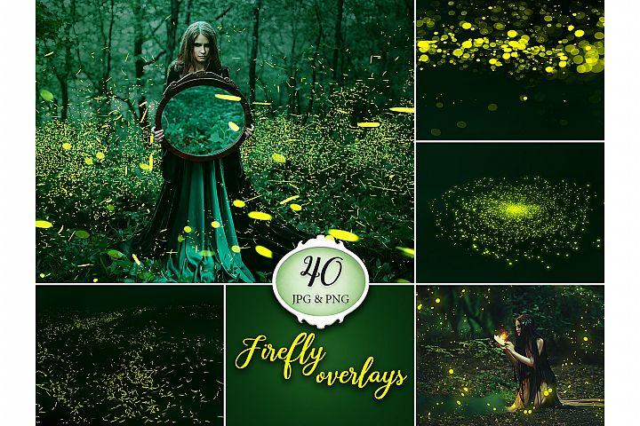 40 Firefly Photo Overlays