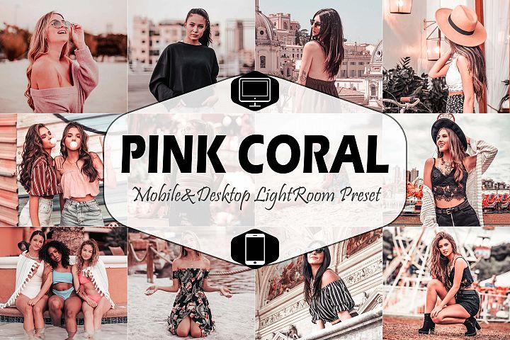 Pink Coral Mobile & Desktop Lightroom Presets, Peach modern