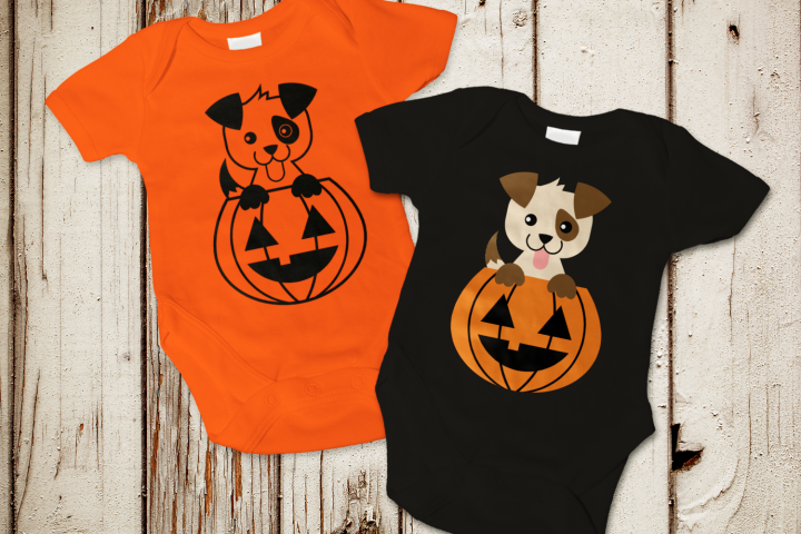 Halloween Pumpkin Dog SVG Design