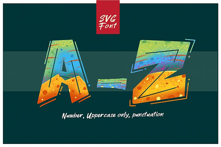 ROCK on RAWK | SVG Font Duo example image 5