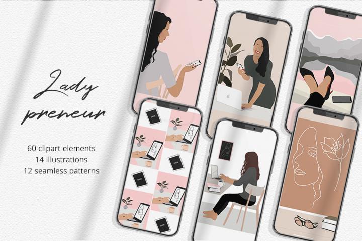 Ladypreneur Illustration Set
