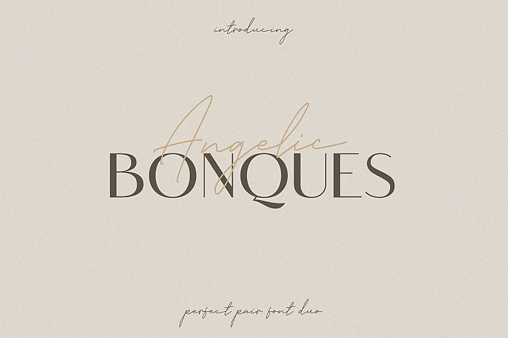Angelic Bonques - Font Duo