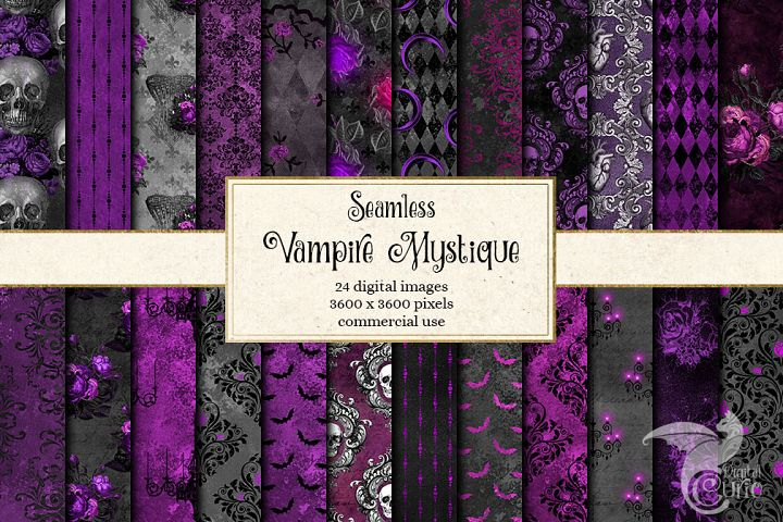Vampire Mystique Digital Paper