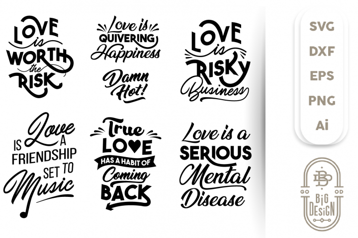 Valentine SVG - Sayings/Quote about Love SVG Cut Files