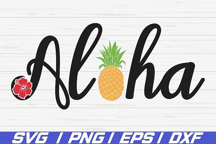 Aloha SVG / Summer SVG / Cut Files / Cricut / Hawaiian