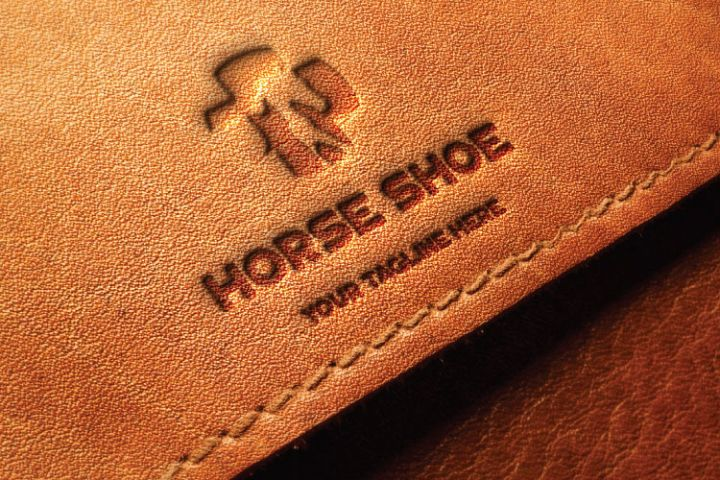 Horse Shape, Leather Logo