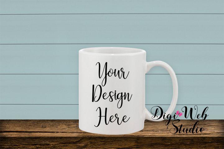 Coffee Cup Mockup - Coffee Mug w/ Shiplap