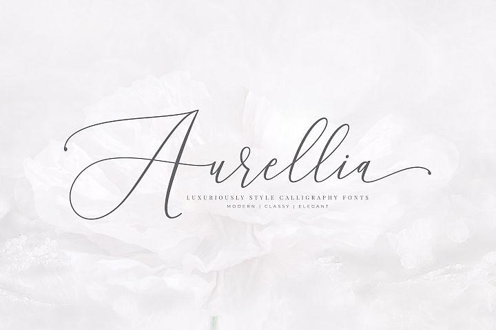 Aurellia Script Classy Fonts