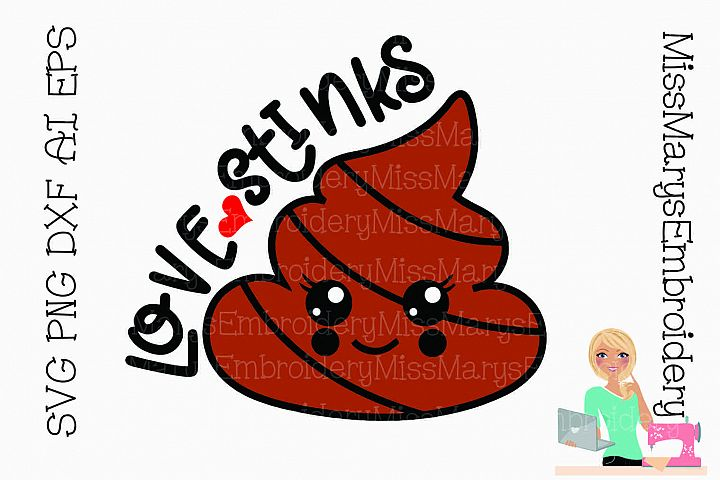 Love Stinks SVG Cutting File PNG DXF AI EPS