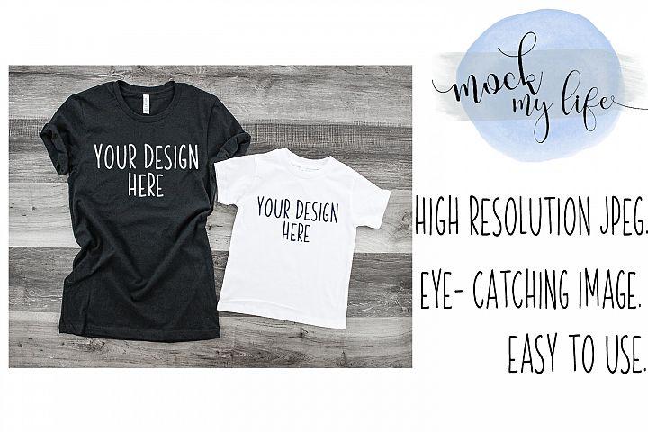 MockUp Bella Canvas Shirt / Shirt Set Mockup