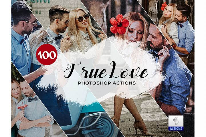 100 True Love Photoshop Actions