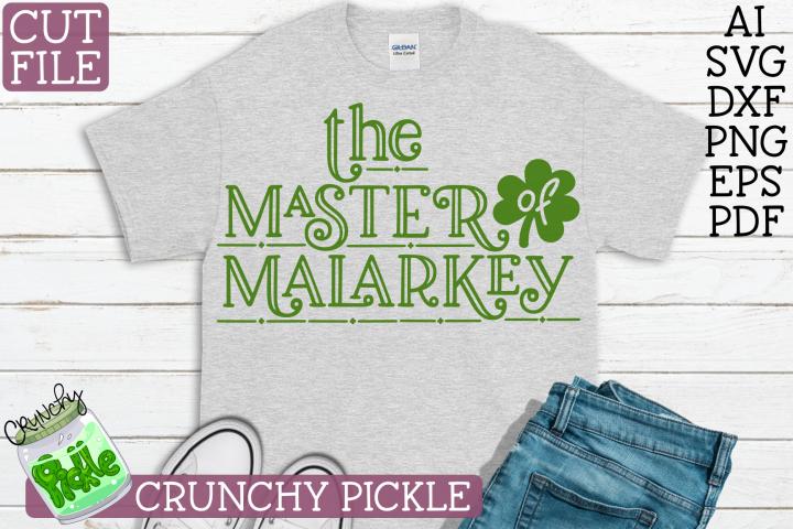 Master of Malarkey St. Patricks Day SVG File