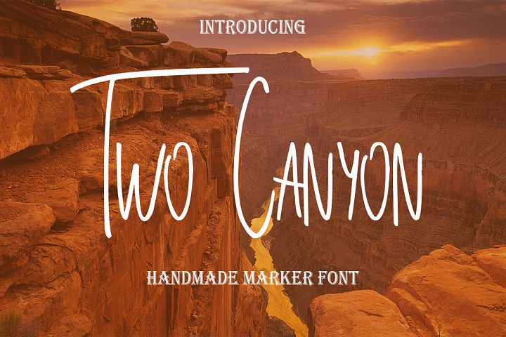 Two Canyon - Free Font of The Week Font
