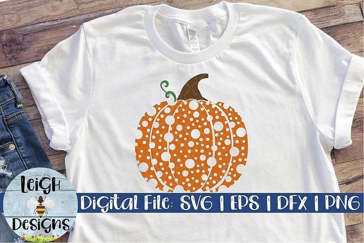 Reverse Polka dot Pumpkin Digital Design