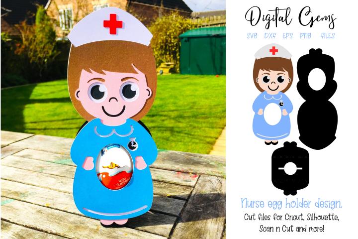 Nurse egg holder design SVG / DXF / EPS files