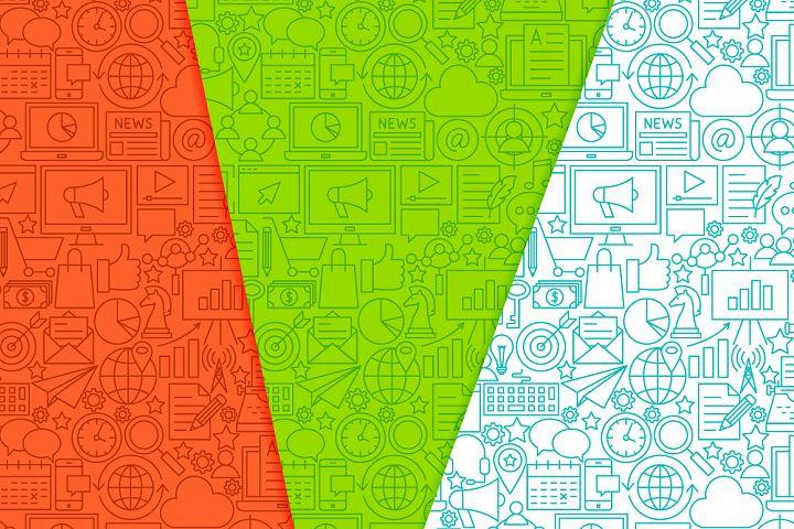 Marketing Line Tile Patterns example 4