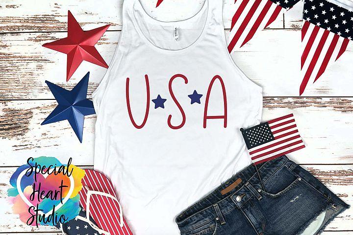 USA - A hand lettered patriotic SVG