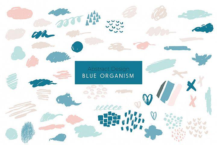 Blue Organism-Abstract Art Patterns
