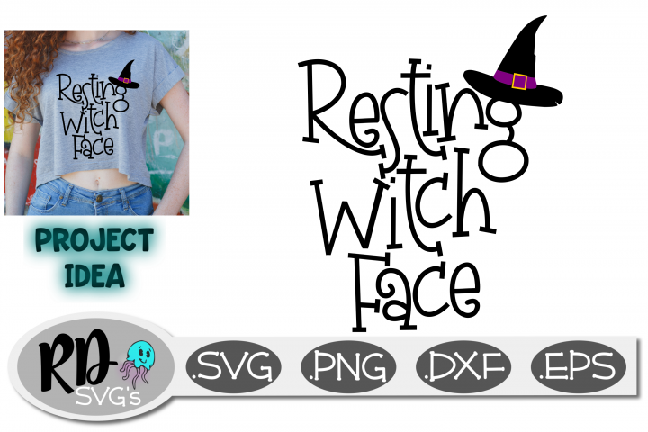 RESTING WITCH FACE - A Smooth Cutting Halloween Cricut File