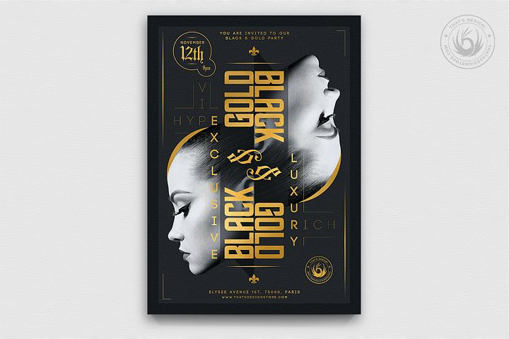 Black and Gold Flyer Template V17