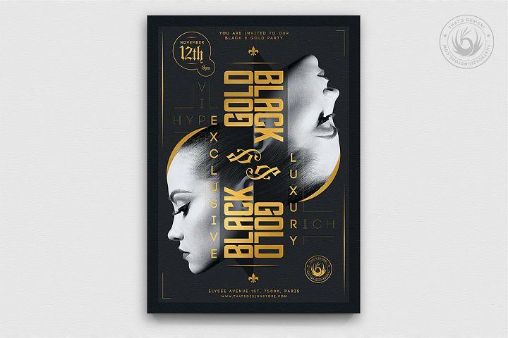 Black and Gold Flyer Template V17