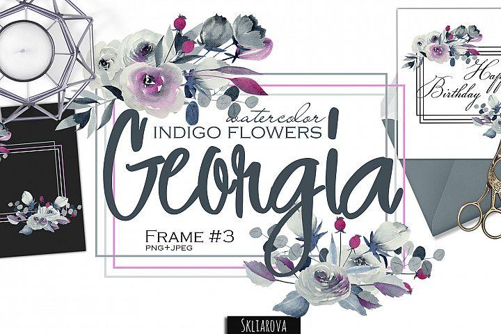 Georgia. Indigo frame #3.