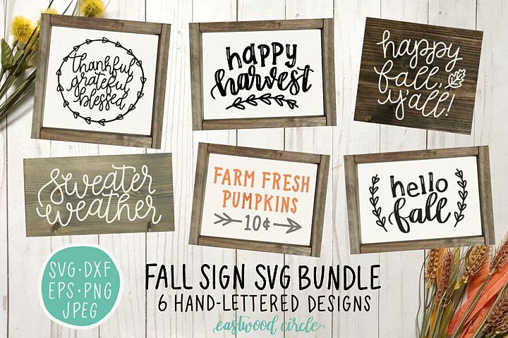 Fall SVG Bundle - Hand Lettered SVG Files for Signs