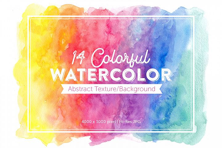 14 Abstract Colorful Watercolor Backgrounds