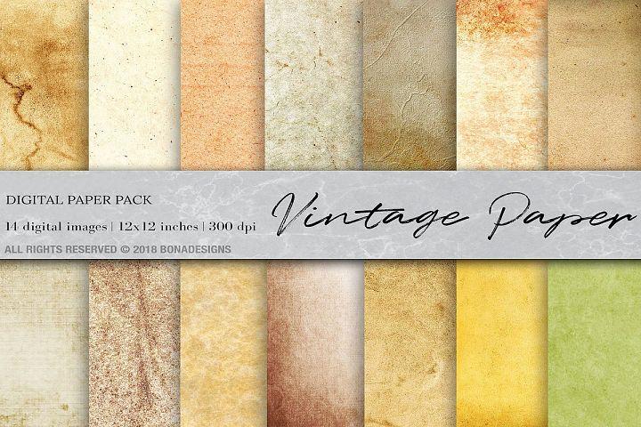 Vintage Paper Digital Papers, Old Paper texture, Vintage