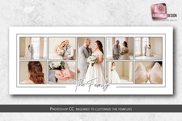 10x24 Photo Collage Template for Photographers