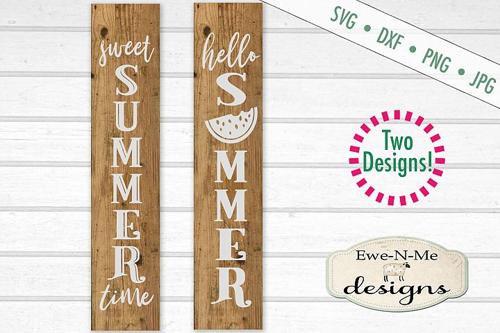 Sweet Summer Watermelon Vertical Porch Sign SVG Cut File