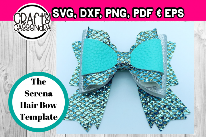 The Serena hair bow svg file