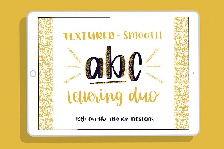 Textured & Smooth Lettering Duo Procreate Brushes
