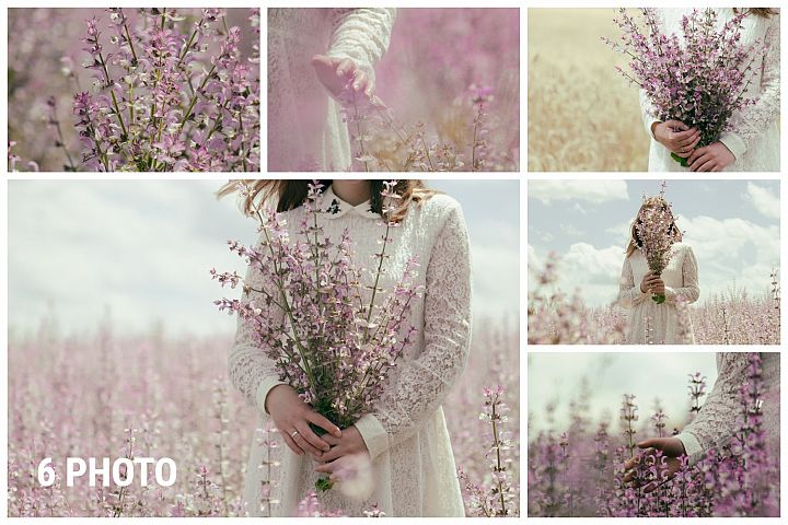 girl outdoors in a field of sage