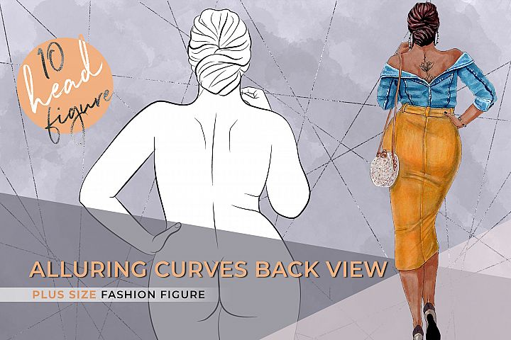 Alluring Curves Back view | Plus size Fashion Figure