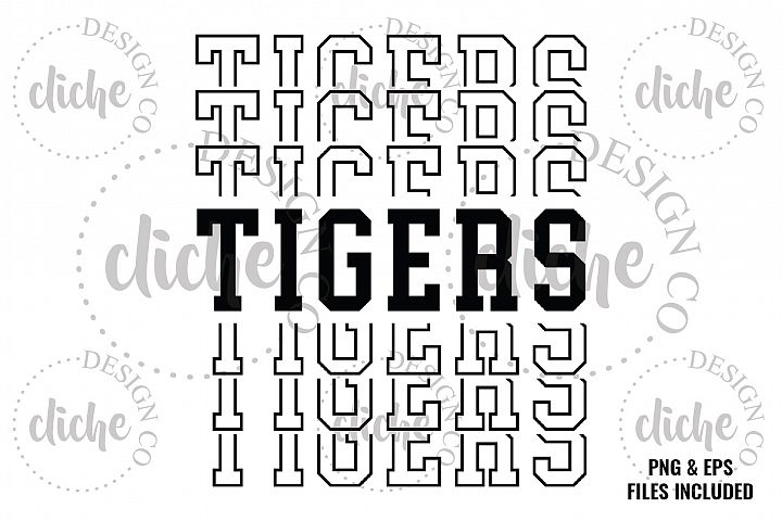 Tigers Sublimation Design & Bonus Vector Files