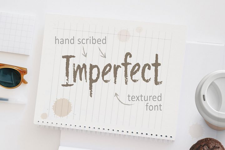 Imperfect - Hand Scribed Textured Latin Font