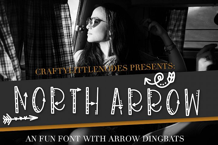 North Arrow - An Arrow Font & Dingbat Duo