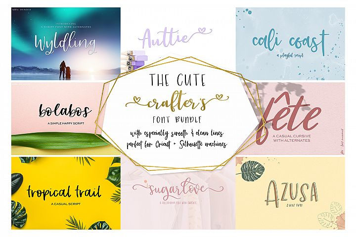 The Cute Crafters Font Bundle