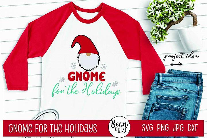 Gnome for the Holidays Christmas Svg