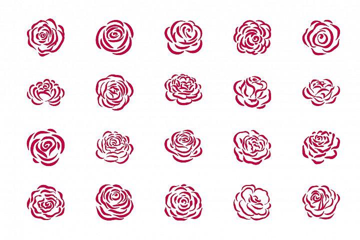 Rose flower symbol illustration