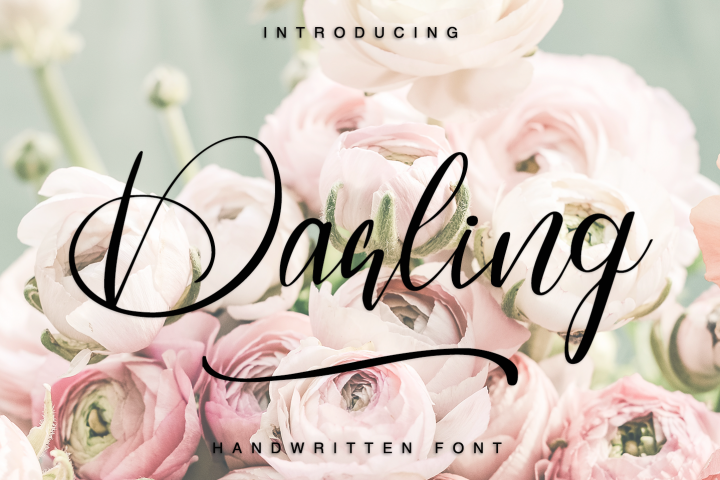 Darling - Hadwritten font