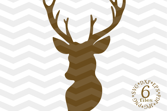 Deer Head SVG - Deer Cut Files SVG - Deer SVG - Cutting File