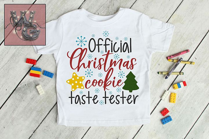 Official Christmas Cookie Test Taster SVG DXF PNG JPG