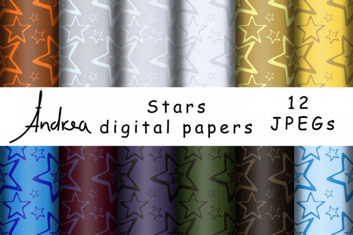 Stars digital papers