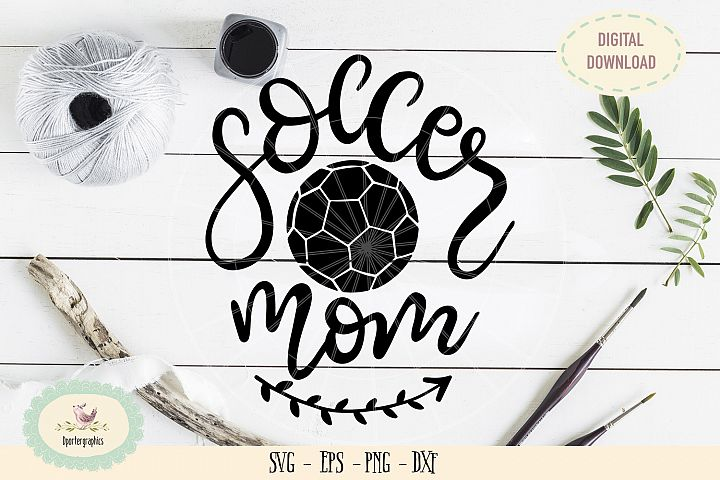 Soccer mom SVG PNG hand lettered