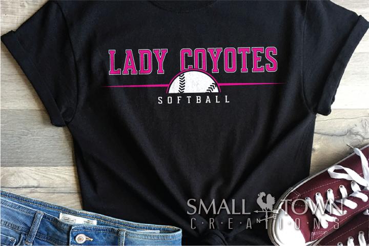 Coyote Softball, Team, Logo, Sport, PRINT, CUT & DESIGN