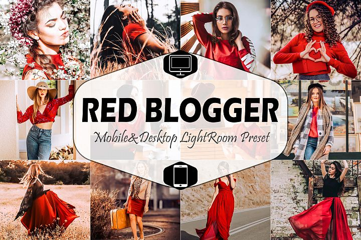 Red Blogger Mobile & Desktop Lightroom Presets, instagram