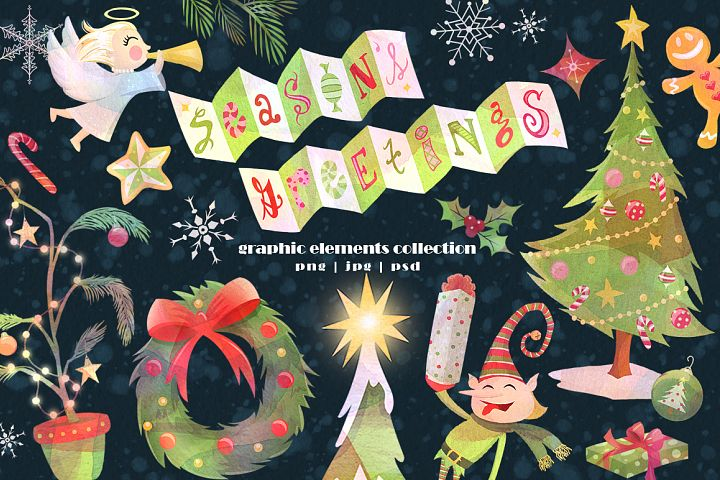 Seasons Greetings Graphics Collection