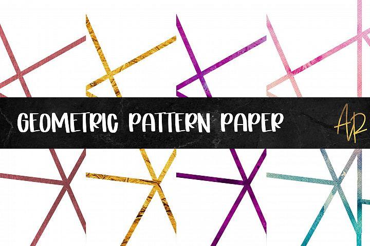 Geometric Pattern Digital Paper PNG JPEG Bundle